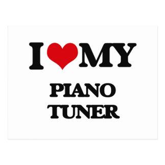 Amo mi sintonizador de piano tarjeta postal