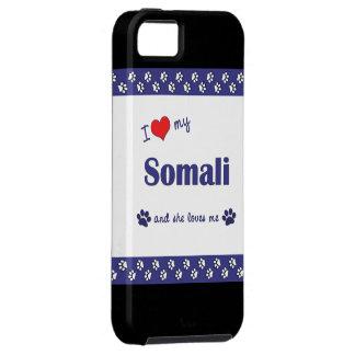Amo mi somalí (el gato femenino) iPhone 5 carcasas