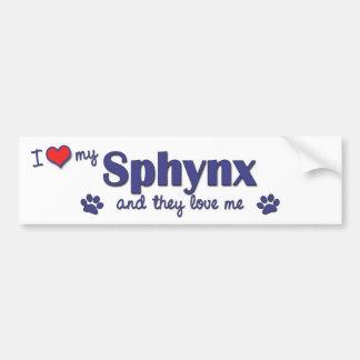 Amo mi Sphynx (los gatos múltiples) Pegatina Para Auto