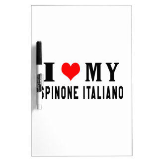 Amo mi Spinone Italiano Pizarras Blancas