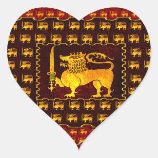 Amo mi Sri Lanka más enferma Pegatina En Forma De Corazón