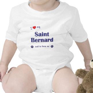 Amo mi St Bernard el perro masculino Trajes De Bebé