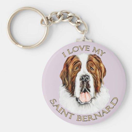Amo mi St Bernard Llavero