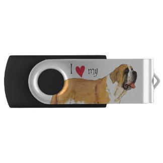 Amo mi St Bernard Memoria USB 3.0 Giratoria