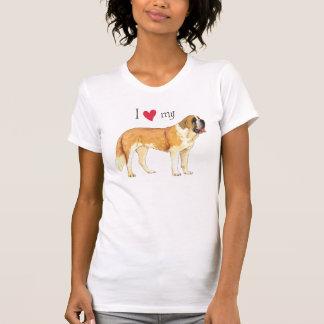 Amo mi St Bernard Camisetas