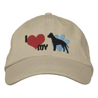 Amo mi Staffordshire Terrier americano Gorro Bordado