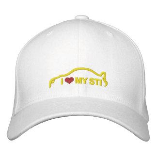 Amo mi STI - amarillo Gorra De Béisbol