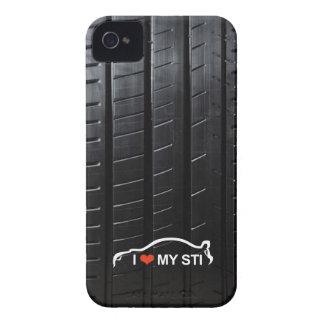 Amo MI STI en pisada del neumático Carcasa Para iPhone 4