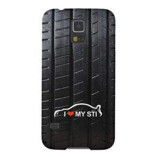 Amo MI STI en pisada del neumático Funda Galaxy S5