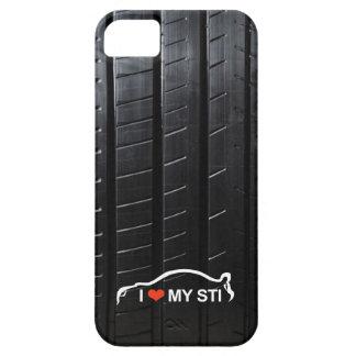 Amo MI STI en pisada del neumático iPhone 5 Funda