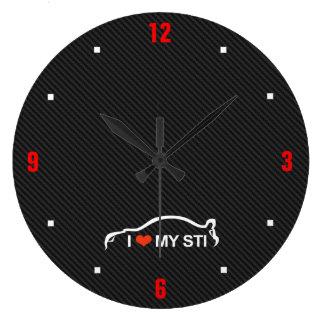 Amo mi STI Relojes De Pared