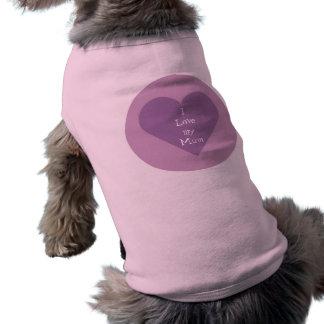 Amo mi suéter del perro de la momia camisas de mascota