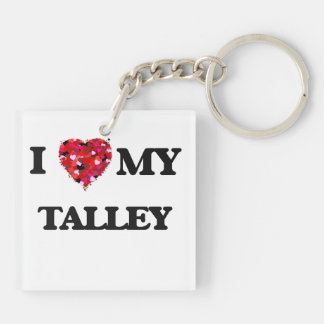 Amo MI Talley Llavero Cuadrado Acrílico A Doble Cara