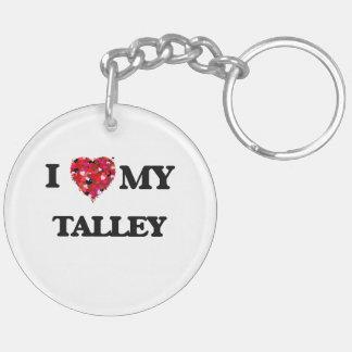 Amo MI Talley Llavero Redondo Acrílico A Doble Cara