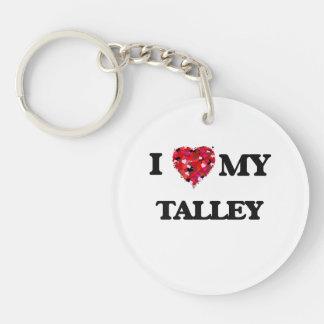 Amo MI Talley Llavero Redondo Acrílico A Una Cara
