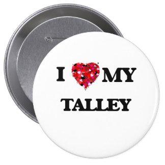 Amo MI Talley Pin Redondo De 4 Pulgadas