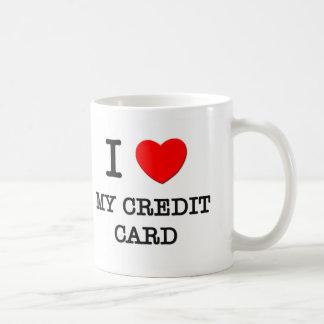 Amo mi tarjeta de crédito taza de café