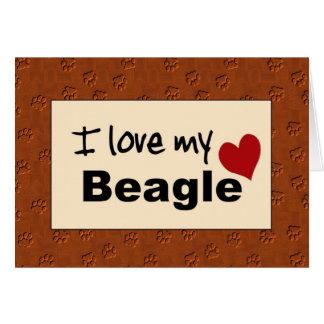 Amo mi tarjeta del beagle