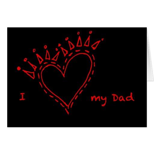 Amo mi tarjeta del papá