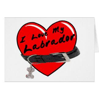 Amo mi tarjeta en blanco de Labrador