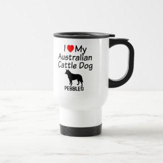 Amo mi taza australiana del perro del ganado