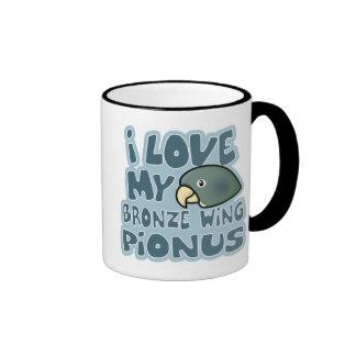 Amo mi taza coa alas bronce de Pionus