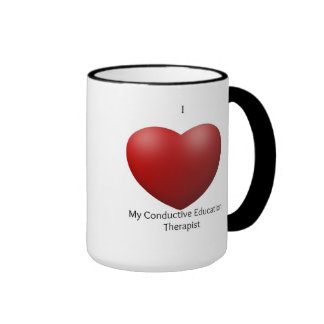 Amo mi taza conductora del terapeuta de la educaci