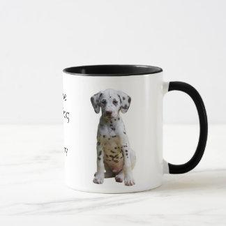 Amo mi taza de café dálmata del perro