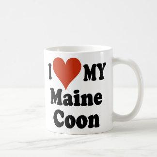 Amo mi taza de café del Coon de Maine