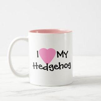 Amo mi taza de café del erizo