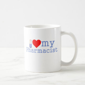 Amo mi taza de café del farmacéutico