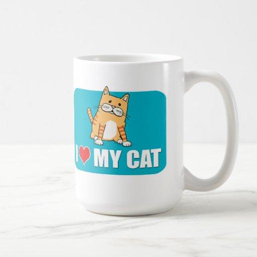 Amo mi taza de café del gato
