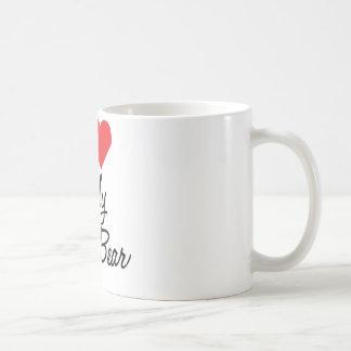 Amo mi taza de café del oso de la papá