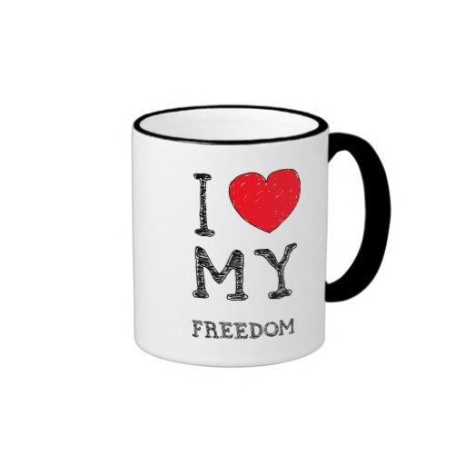 Amo mi {taza de la libertad}