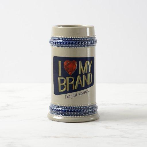 Amo mi taza de la marca