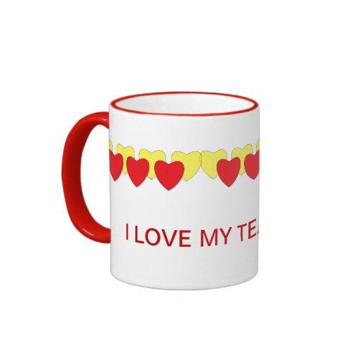 amo mi taza de la rotura de té