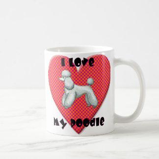 Amo mi taza de la taza de café del corazón del