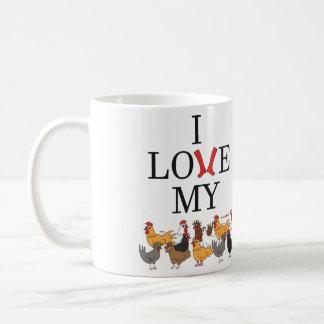 Amo mi taza de los pollos (zurda)