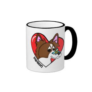 Amo mi taza de Papillon (el dibujo animado)