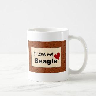 Amo mi taza del beagle