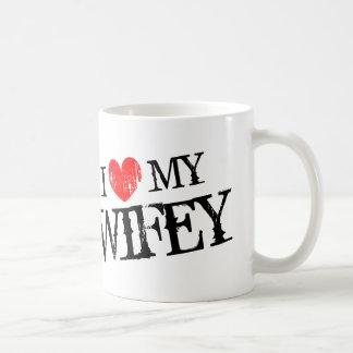 Amo mi taza del día de San Valentín del wifey para