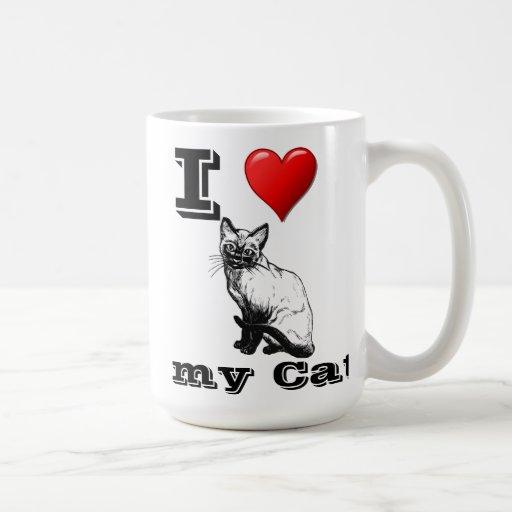 Amo mi taza del gato