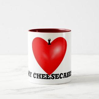 Amo mi taza del pastel de queso