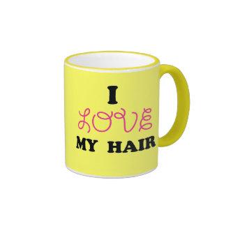 AMO mi taza del pelo