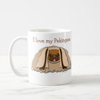 Amo mi taza del perro de Pekingese del dibujo anim