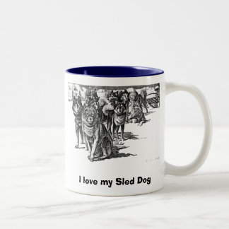 Amo mi taza del perro de trineo