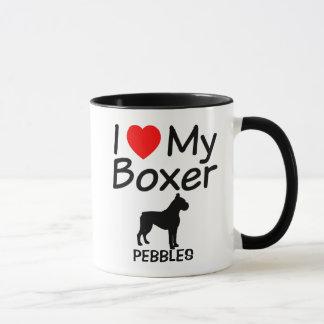 Amo mi taza del perro del boxeador