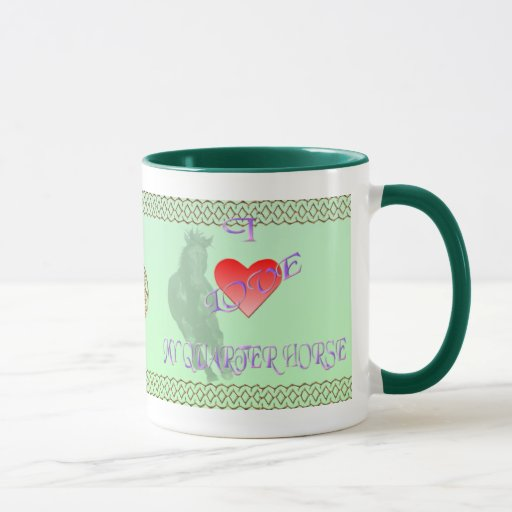 Amo mi taza del Quarterhorse