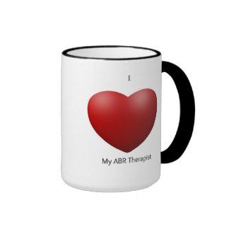 Amo mi taza del terapeuta de ABR
