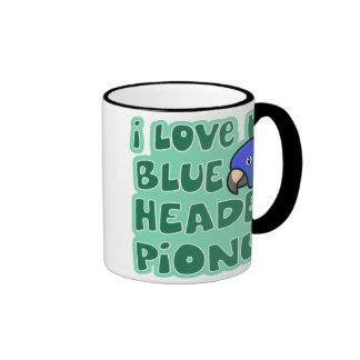 Amo mi taza dirigida azul de Pionus